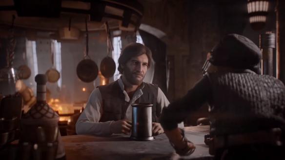Kuva pelianimaatiosta: Han Solo ja Maz Kanata.