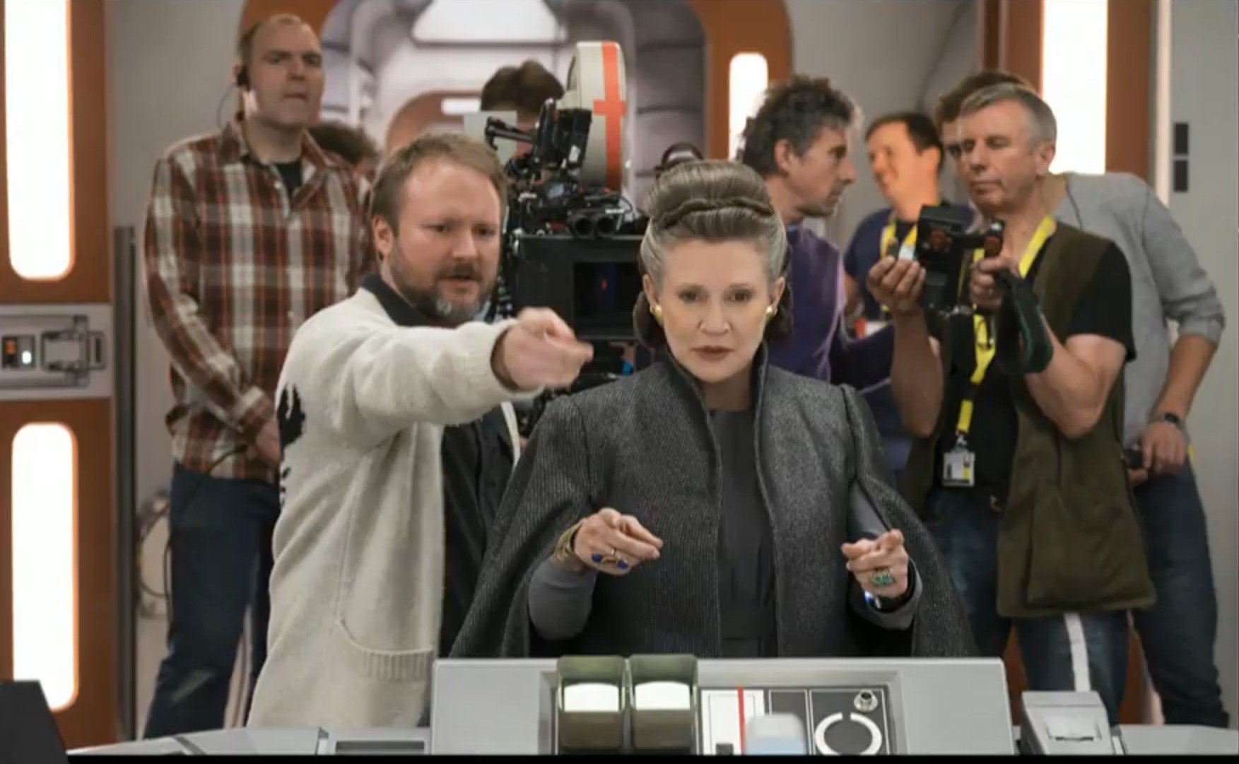 rian-johnson-carrie-fisher